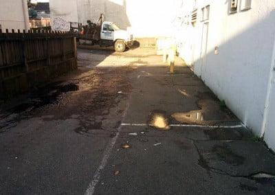 Old Cracked Asphalt Parking Lot