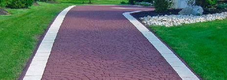 Coloured asphalt driveway