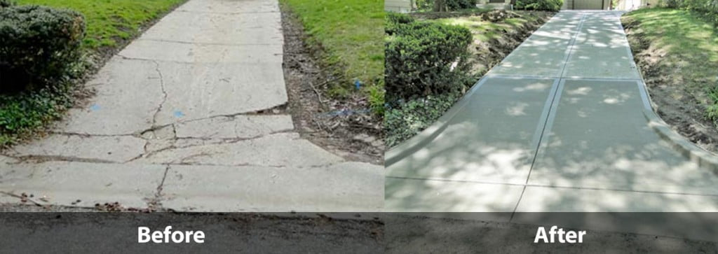 Before and After Concrete Paving