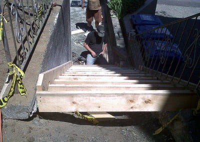 Forming the stairs