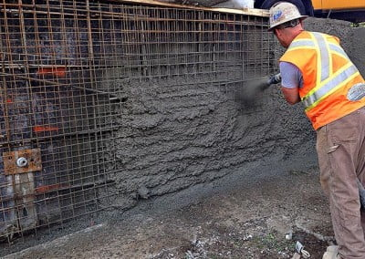 Shotcrete Retaining Wall