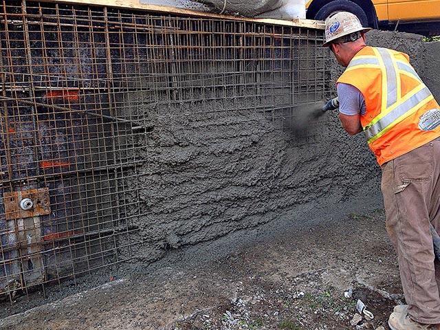 Shotcrete Retaining Wall Concrete Drainage Asphalt Bortolo