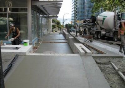 City Sidewalk Vancouver
