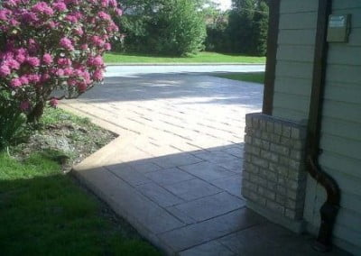 Finished Stamped Concrete Walkway